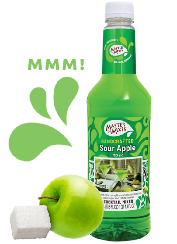 MASTER OF MIX SOUR APPLE 1000ML